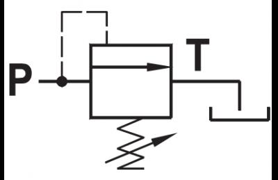 Valvola di regolazione pressione con cono guidato ad azione diretta