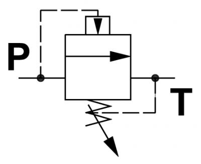 Valvola di regolazione pressione pilotata, a cursore