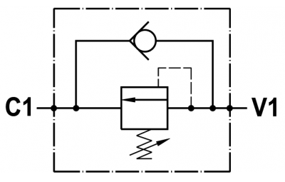 Valvola di sequenza ad azione diretta - montaggio in linea