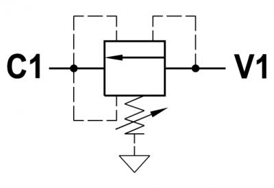 Valvola di sequenza bilanciata ad azione diretta, versione a cartuccia