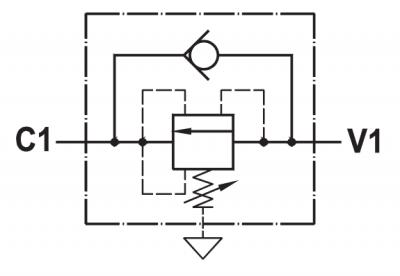 Valvola di sequenza bilanciata ad azione diretta, montaggio in linea