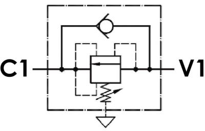 Valvola di sequenza ad azione diretta, versione a cartuccia, cavità SAE 12