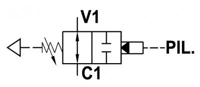 Valvola di sequenza bilanciata, ad azione diretta, a cartuccia, normalmente aperta