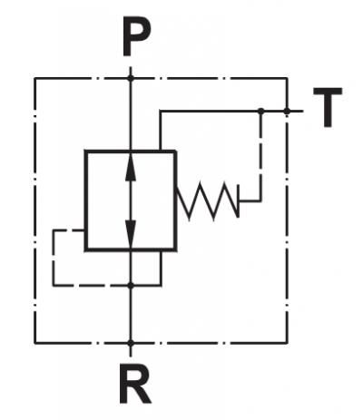 Valvola di riduzione pressione diretta, a taratura fissa
