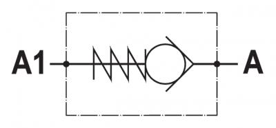 Valvola di ritegno unidirezionale, versione inserto, tenuta a sfera