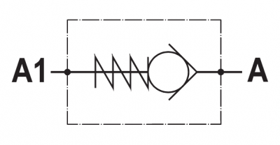 Valvola di ritegno unidirezionale, tenuta a sfera, versione cartuccia, cavità SAE