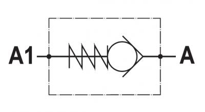 Valvola di ritegno unidirezionale, versione cartuccia, cavità SAE