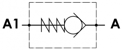 Valvola di ritegno unidirezionale, versione cartuccia, cavità metrica