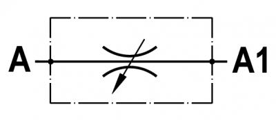 Valvola regolatrice di flusso bidirezionale