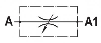 Valvola regolatrice di flusso bidirezionale, tipo a manicotto