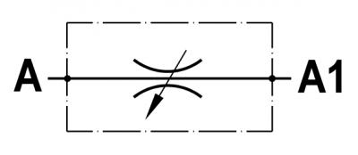 Valvola regolatrice di flusso bidirezionale, versione a cartuccia, cavità SAE
