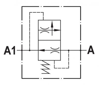 Pressure compensated flow restricting valve
