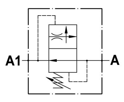 Adjustable pressure compensated flow restricting valve