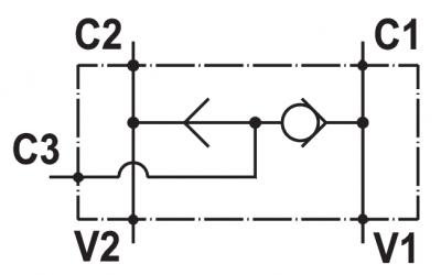 "Valvola selettrice, flangiabile su motori Samhydraulik serie ""AG/BG/AR/BR/ARSR/MB"""