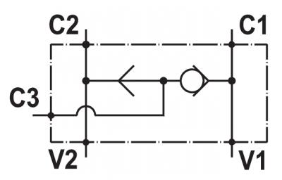 "Valvola selettrice, flangiabile su motori Danfoss serie ""OMP/OMR/OMH"""