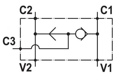 """Valvola selettrice, flangiabile su motori Danfoss serie """"OMS"""""""