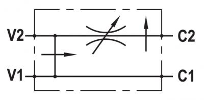 Regolatore di flusso a 3 vie compensato, con eccedenza a scarico, flangiabile su motori Char-Lynn 2000