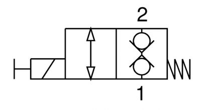 Valvola elettrica 2 vie, diretta, normalmente chiusa
