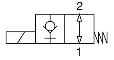 Valvola elettrica 2 vie, diretta, normalmente aperta