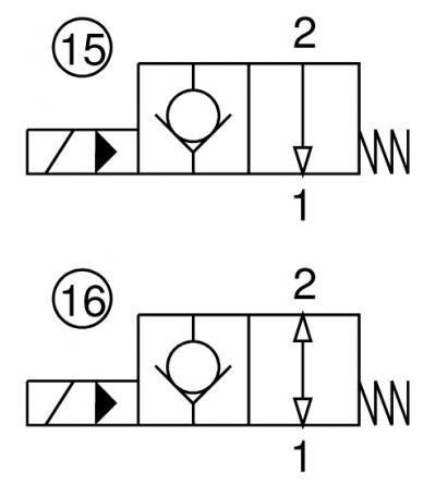Valvola elettrica 2 vie, pilotata, normalmente aperta