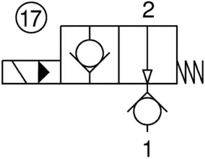 Valvola elettrica 2 vie, pilotata, normalmente aperta, filettatura gas