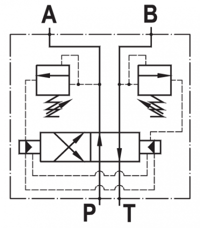 Invertitore automatico ad aumento di pressione, flangiato CETOP 5